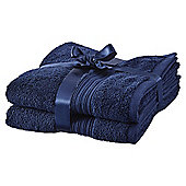 Hygro Cotton 2 Pack Hand Towels - Navy