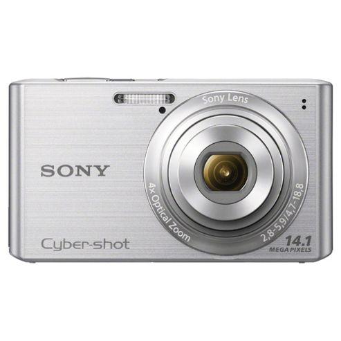 Sony W610 Digital Camera, Silver, 14.1MP, 4x Optical Zoom, 2.7 inch LCD Screen