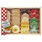 Melissa & Doug Play House - Food Sandwich Set
