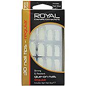 Royal 24 Glue On Strong Resilient False Fake Nails Nail Tips Regular Cosmetics