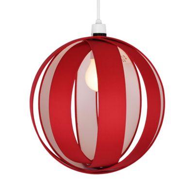 Globe Ceiling Pendant Light Shade, Red