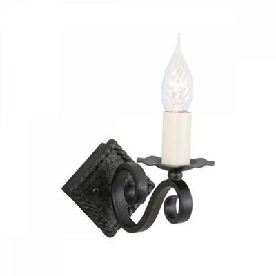 Black 1lt Wall Light A - 1 x 60W E14