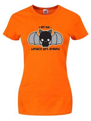 I Am The Battiest Girl Around Orange Women's T-shirt