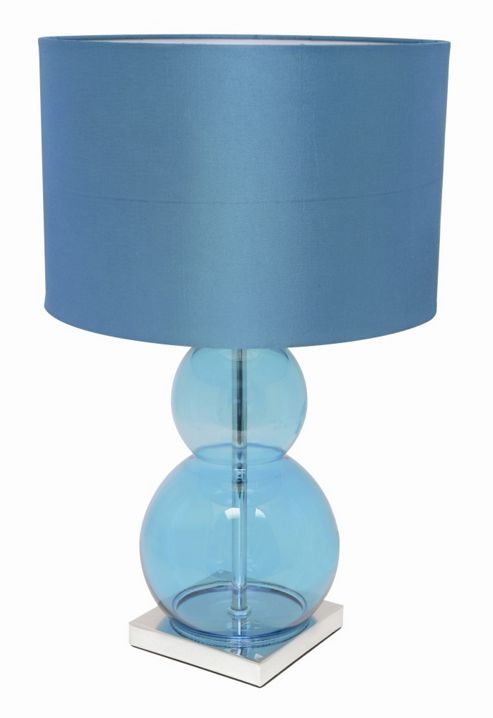 Home Essence Sumo Contemporary 60W Table Lamp in Teal