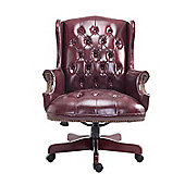 Homcom Luxury Rolling Executive High Back Office Chair PU Leather Padded Swivel Armchair (Brown)