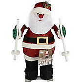 Motion Skiing Santa Decoration With Lights