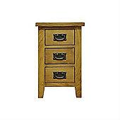 Cambridge Petite Rustic Oak Small Bedside Cabinet