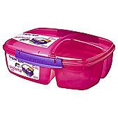 Sistema Triplesplit Pink Lunch Box