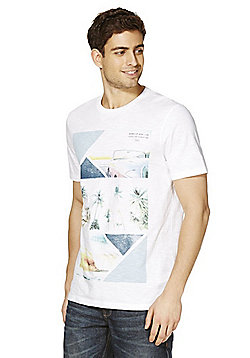 F&F Beach Photographic Print T-Shirt - White