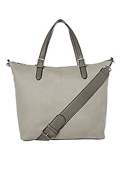 F&F Slouch Tote Bag Grey One Size