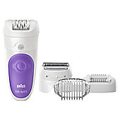 Braun SE5-541 Silk-épil 5 Cordless Wet & Dry Epilator - White / Purple