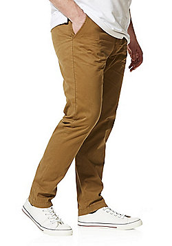 Jacamo Straight Leg Regular Fit Chinos - Tobacco