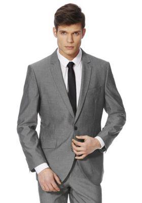 F&F Regular Fit Suit Jacket Grey 54 Chest regular length