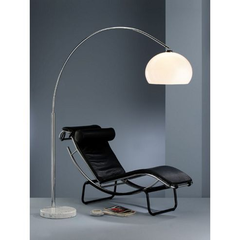Action Bow Floor Lamp in Chrome