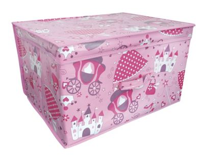 Country Club Jumbo Storage Chest, Pink Princess, 50 x 40 x 30cm