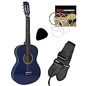 Tiger 1/4 Size Beginners Classical Guitar Colour-Blue
