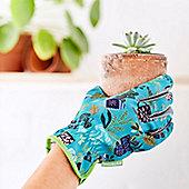 Turquoise & Green Gardening Gloves