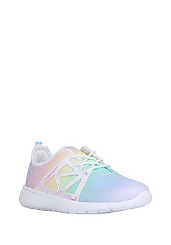 F&F Rainbow Ombre Lace-Up Trainers - Multi