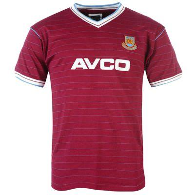 West Ham United FC Mens 1986 Shirt Small