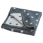 Grey Stars Blanket 75x100cm