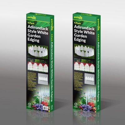 4 x Adirondack Style Flexible Plastic Garden Border Edging Lawn Grass Edge Panel