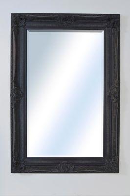 Large Ornate Shabby Chic Antique Black Wall Mirror 6Ft2 X 4Ft2, 188Cm X 128Cm