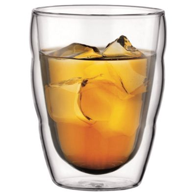 Bodum Pilatus Set of 2 250ml Double Walled Glass Cups
