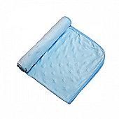 Cuddles Collection Dimple Pram Blanket (Blue)