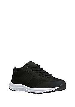 F&F Woven Panel Micro-Fresh® Trainers - Black
