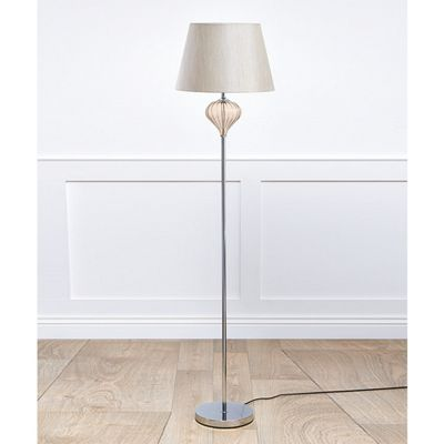 Kliving Luton Cream Glass Floor Lamp