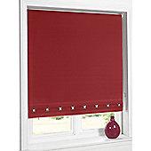 Hamilton Mcbride Aurora Square Eyelet Red Blind - 180x165cm
