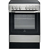 Indesit Electric Cooker with Electric Grill and Ceramic Hob, I6VV2A(X)/UK - Stainless steel