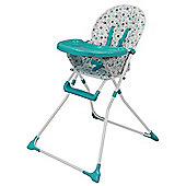 Bebe Style Foldable EZ 123 Baby Highchair - Blue