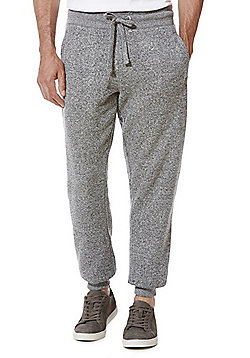 F&F Textured Marl Slim Fit Cuffed Joggers - Grey