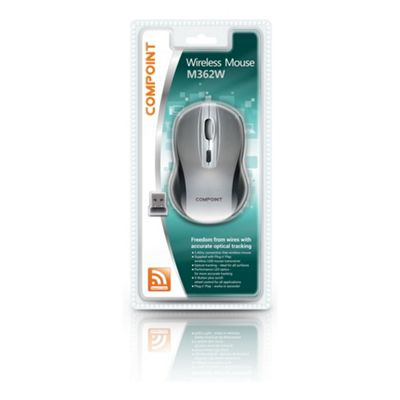 Dynamode Compoint M362W Wireless 1600dpi Optical Mouse with Nano Adapter