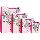 Pink Owls Gift Bag - Medium