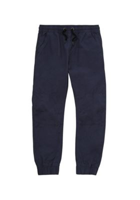 F&F Cuffed Woven Trousers Navy Blue 5-6 years