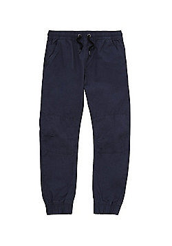 F&F Cuffed Woven Trousers - Navy Blue