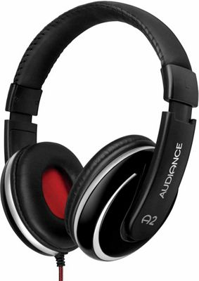 Audiance A2 Black and Silver Over Ear Headphones