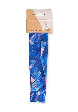 Zakti Slick Back Headband Quick Wicking and Super Stretchy w/ Snug Fit - Black, Blue & Pink