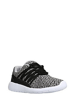 F&F Knitted Upper Lifestyle Trainers - Grey