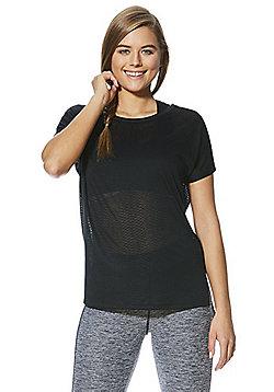 F&F Active Tropical Burnout T-Shirt - Black