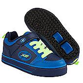 Heelys Thunder Navy/Royal/Neon Yellow X2 Heely Shoe - Navy