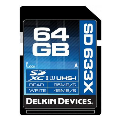Delkin 64Gb SD Memory Card Elite SDHC UHS-I 633x (DDSDELITE633-64Gb)