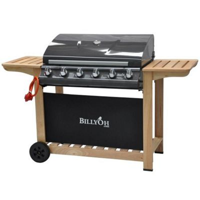 BillyOh Imperial 6 Burner Hooded Gas Barbecue Including Gas Hose and Regulator