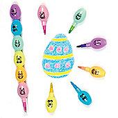 Funky Face Egg Pop-a-Crayons Set for Children - Easter/Spring Party Bag Filler or Gift for Kids (Pack of 4)