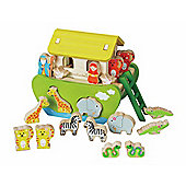 EverEarth Wooden Toy Shape Sorting Noah's Ark