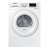 Samsung DV80M50101W Condenser Tumble Dryer 8kg Load A++ Energy Rating White