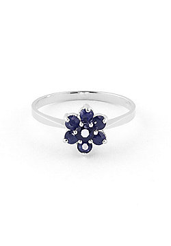 QP Jewellers 0.66ct Sapphire Ontario Wildflower Ring in 14K White Gold