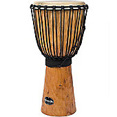 "World Rhythm 10"" Jammer Rough Bark Natural Djembe Drum"